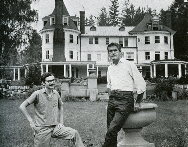 Ralph Metzner (left) and Tim Leary (right) at Millbrook