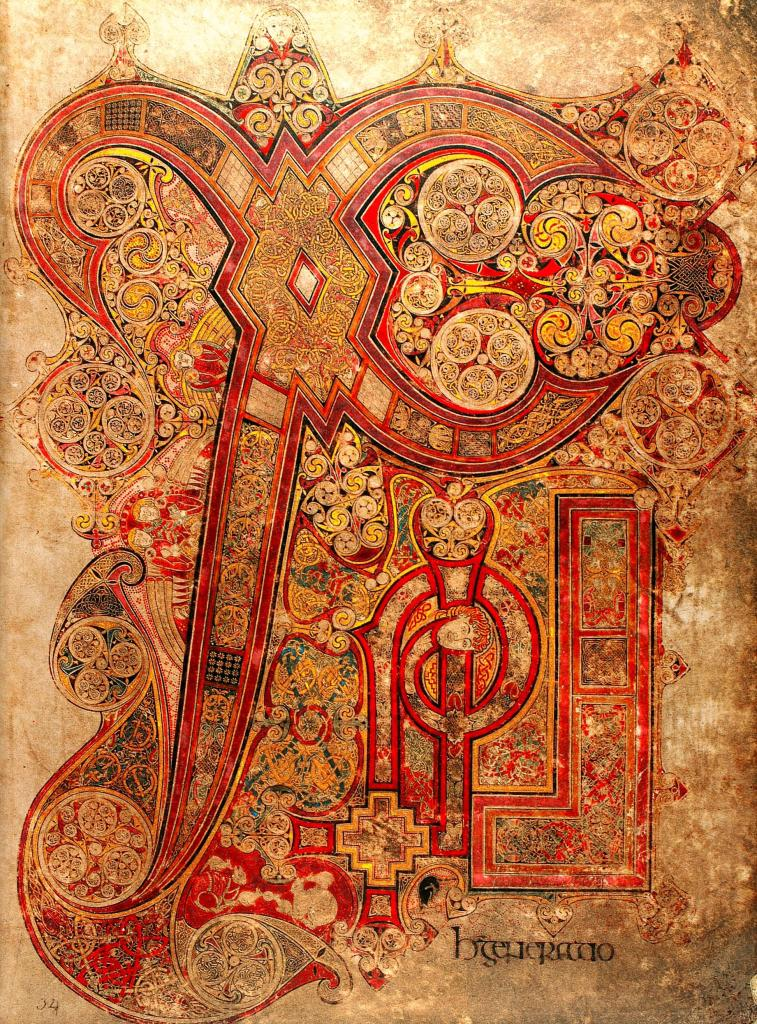 book of kells chi rho