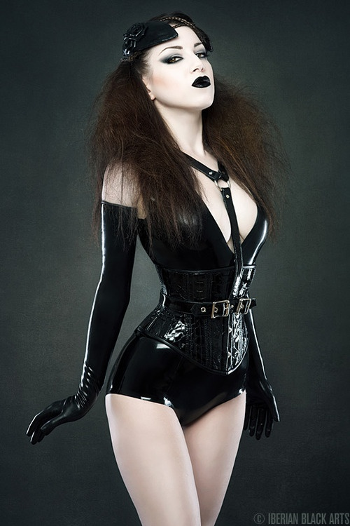 Latex Corset , body and gloves by Atsuko Kudo Latex