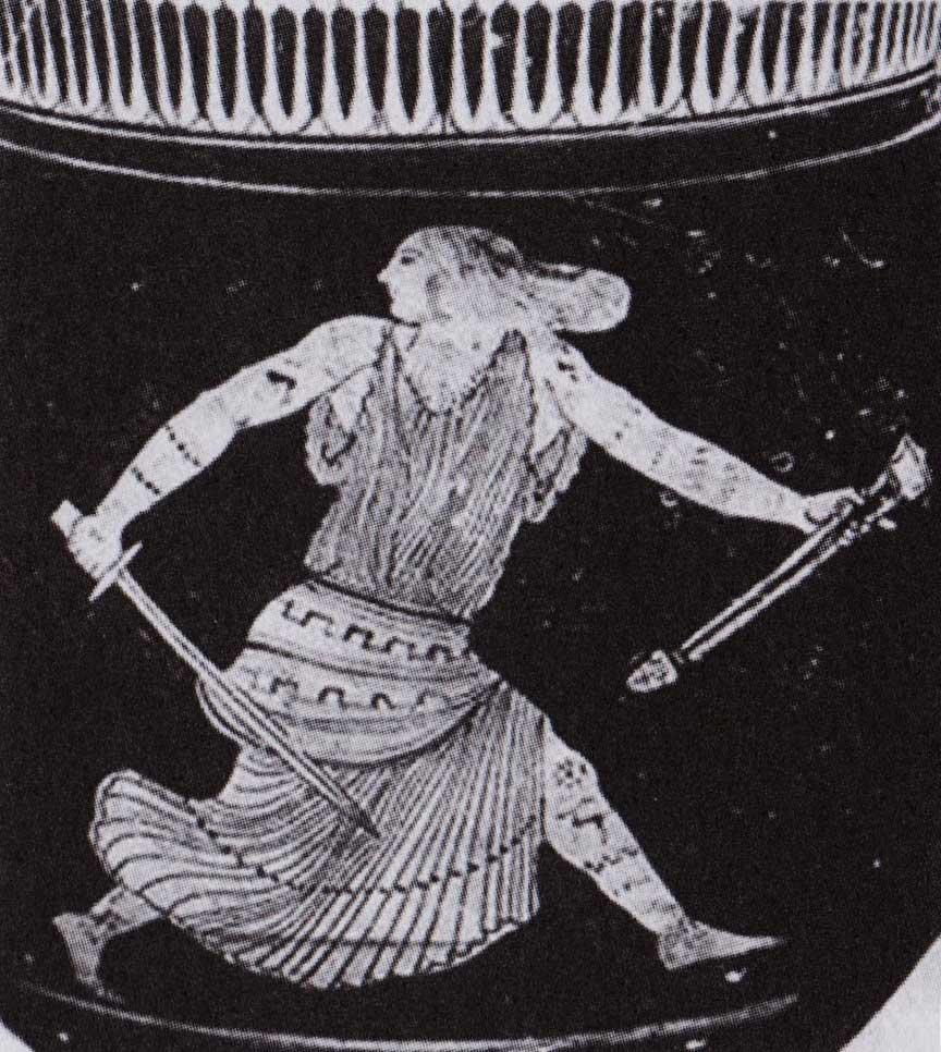 menade-tracia-con-spada-braccia-e-gambe-tatuate-con-motivo-della-cerva-vaso-attico-a-figure-rosse-V-sec-ac-monaco