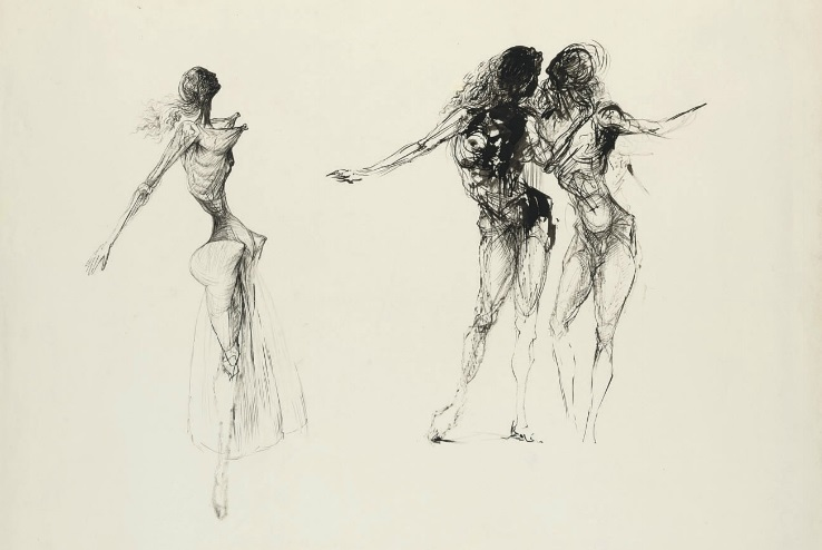 Study for Bacchanal c. 1937-1938 by Salvador Dalí (x)