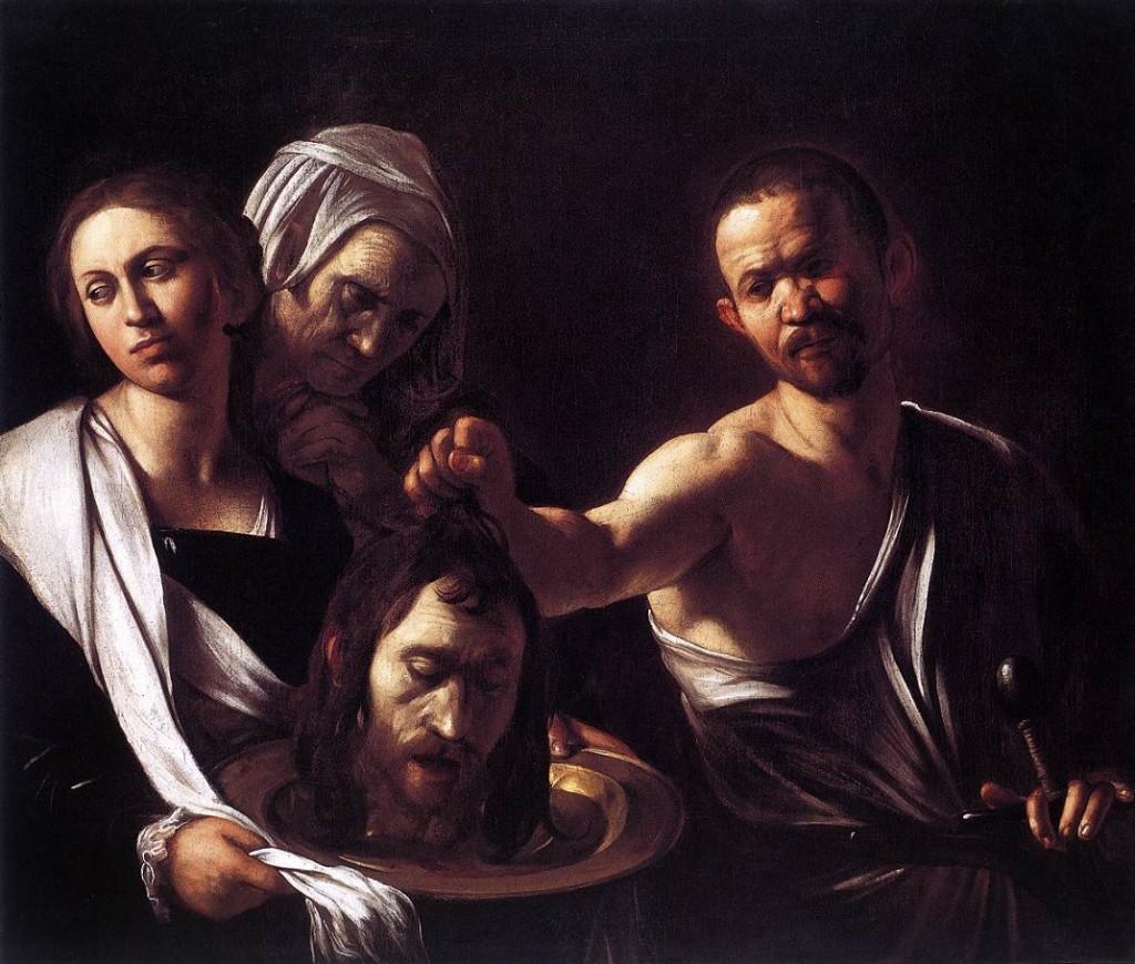 Caravaggio Salomè-con-la-testa-del-Battista-Caravaggio-Londra