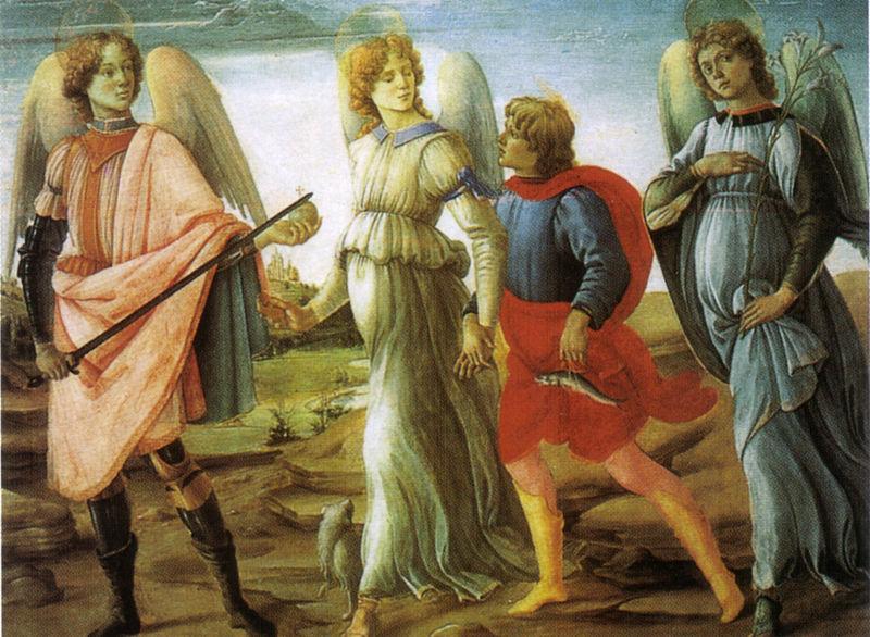 Filippino_lippi,_tobiolo_e_i_tre_arcangeli,_1485,_torino,_galleria_sabauda