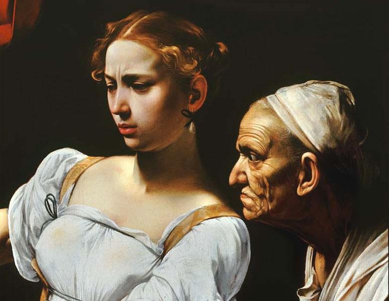 Giuditta-e-Oloferne-Caravaggio-particolare