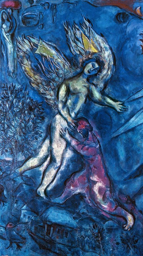 chagall lotta giacobbe angelo