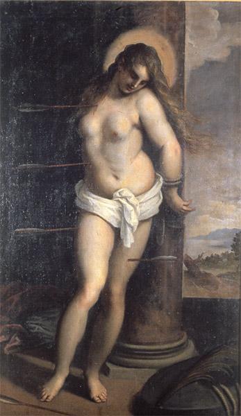 jacopo palma il giovane, martirio di santa cristina