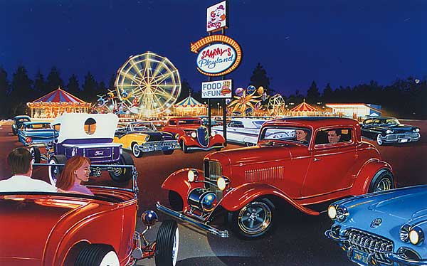 Classic Car Wallpaper Murals Limited Edition Automotive Art Prints Of Muscle Cars And