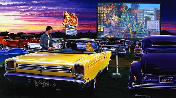 1957 Cars Restored Or Wallpapers Limited Edition Automotive Art Prints Of Muscle Cars And