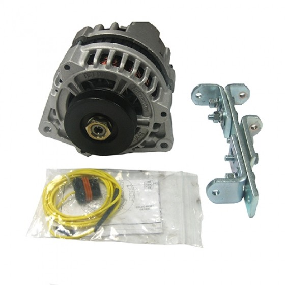 New 12 volt Conversion Alternator Kit (4 or 6 cyl) Fits 41-71 Willys and