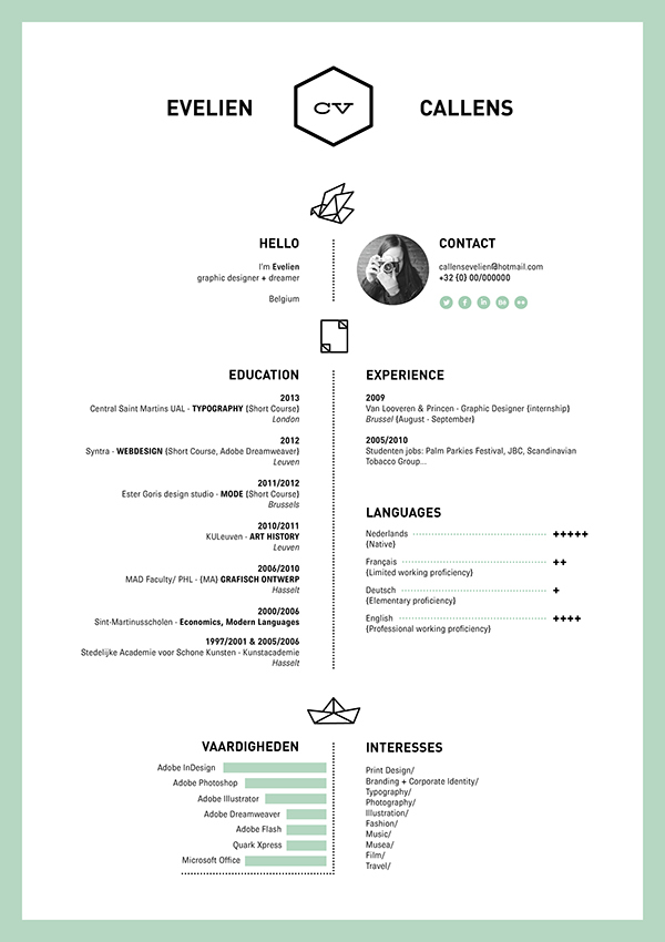 16 Creative Resume Ideas From Graphic Designers All Over The World - resume for graphic designer