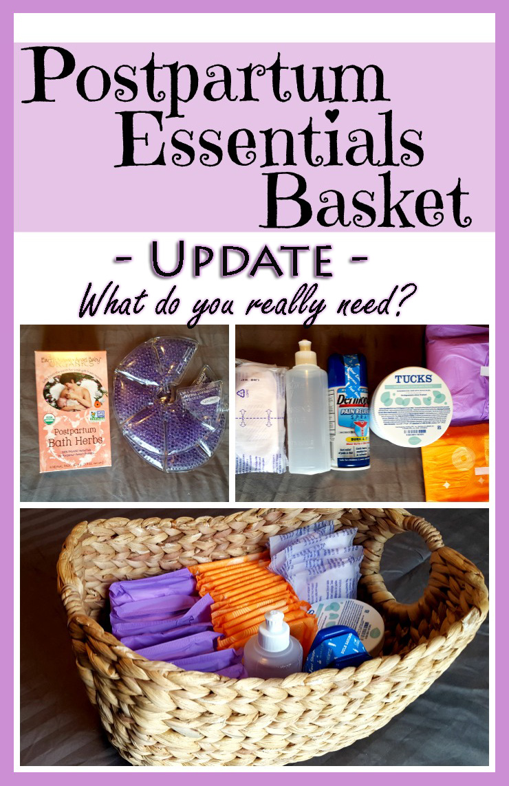 postpartum essentials basket update