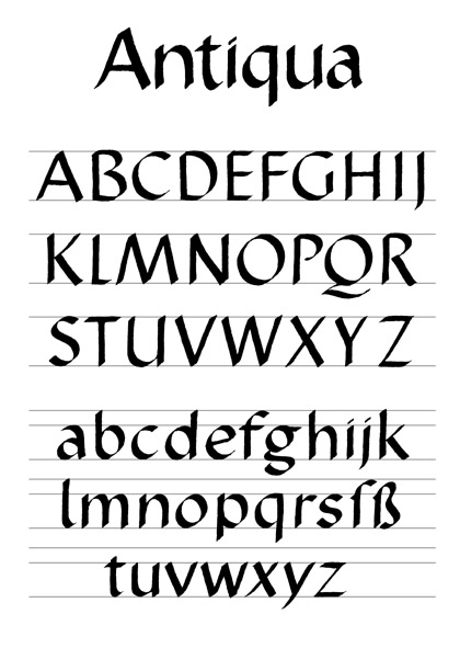 Italic SCRIPT Jackson Alves - Alphabet Example - Italic - collection letter example