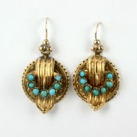 Buy Antique turquoise earrings in 15ct gold. Sold Items ...