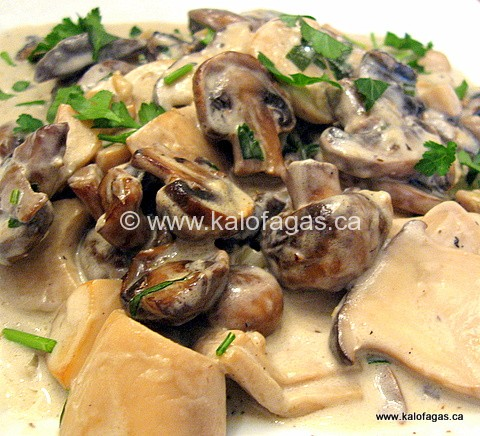 Vasilli's Mushrooms With Ouzo