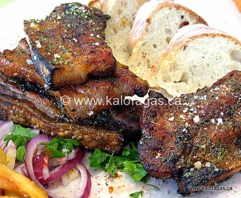 Grilled Pork Belly (Παντσέτες-στα-κάρβουνα)
