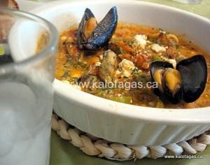 Mussels Saganaki (Μύδια-σαγανάκι)