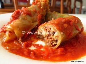 Kozani Style Cabbage Rolls With Tomato & Saffron