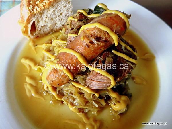 Sauerkraut With Sausages, Pork & Caraway