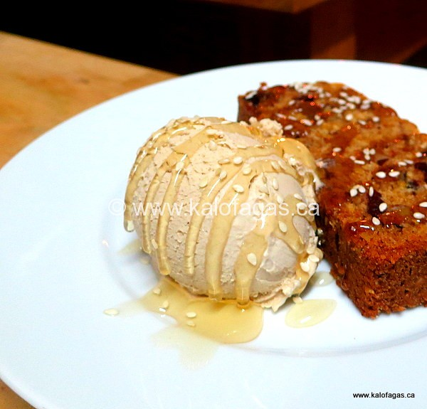 Lenten Tahini & Honey Ice Cream