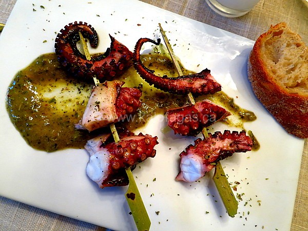 Octopus Souvlaki Meze With Greek-Style Chimichurri