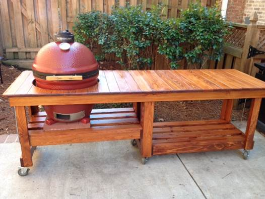 Kamado Grill Table For My 60th Ngto Message Board