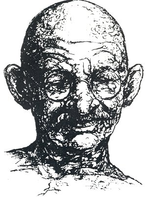 Mahatma Gandhi Album Line Drawing of Mahatma Gandhi - line drawing