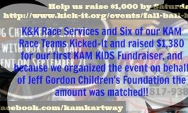 KAM Drivers Raised $1,380 for Children's Cancer Research last month!