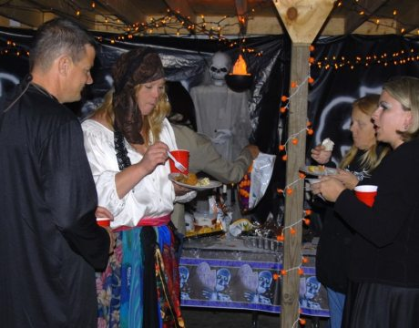 2008_Halloween Awards Party -the food was great and the company amazing_who says you have to dress up and go a stupid restaurant for a banquet