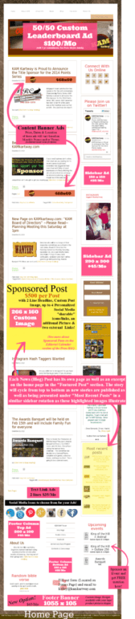 KAM Kartway Home Page Sample with Ads