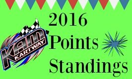 Points as of 8-27-16