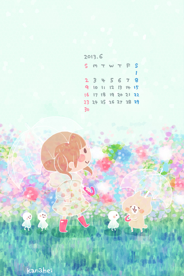 Cute Wallpapers Images For Mobile 2013年6月カレンダー カナヘイの隠れ家