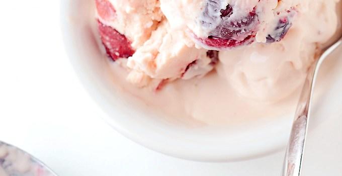 Cherry Mascarpone Ice Cream