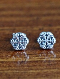 sterling silver snowflake earrings | kandsimpressions