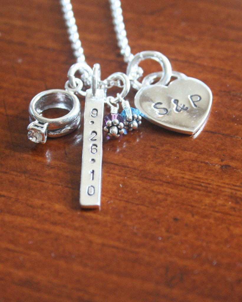 Wedding Date Anniversary Necklace Kandsimpressions