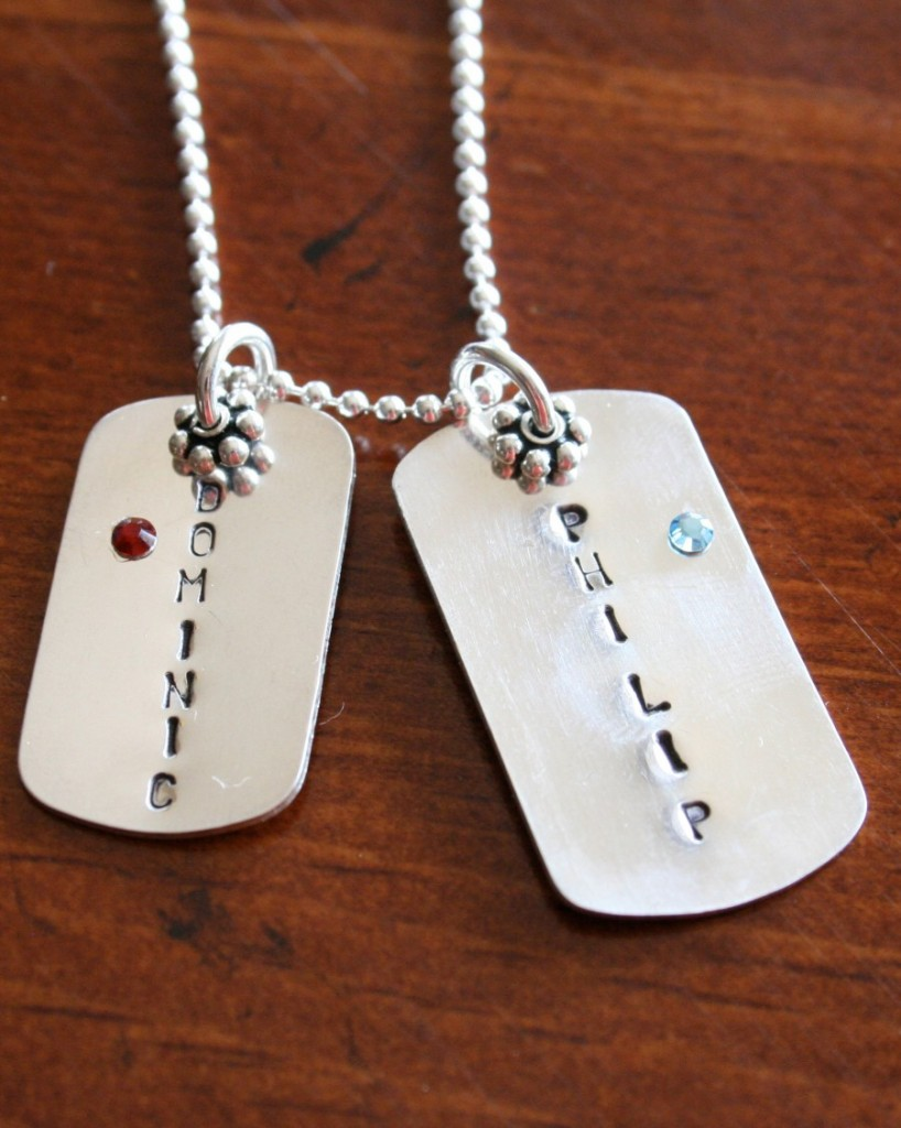 K Dog Tag Necklaces For Sale