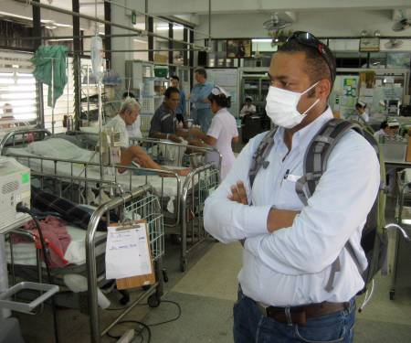 John in Infektionsstation, Ubon Ratchanthani, Thailand