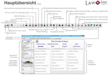 Kanzleisoftware LawFirm - Update auf die Version 8.2n - Dokumentenviewer mit dynamischer Ordnerstruktur, modernes 3D Layout, Internet-Update