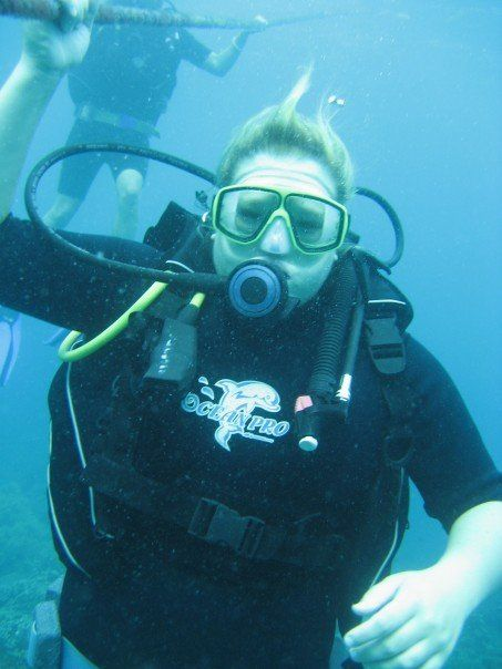 Me on one of my first dives in Boracay