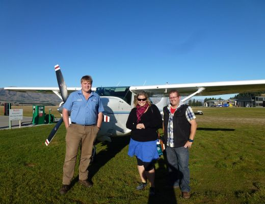 Nick (the pilot), Me and Rory with our little plane