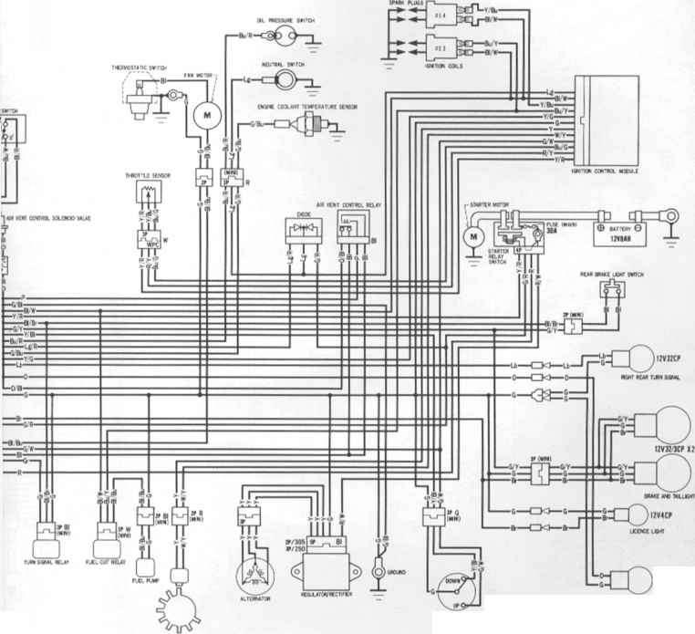 honda cbr 600 wire diagram
