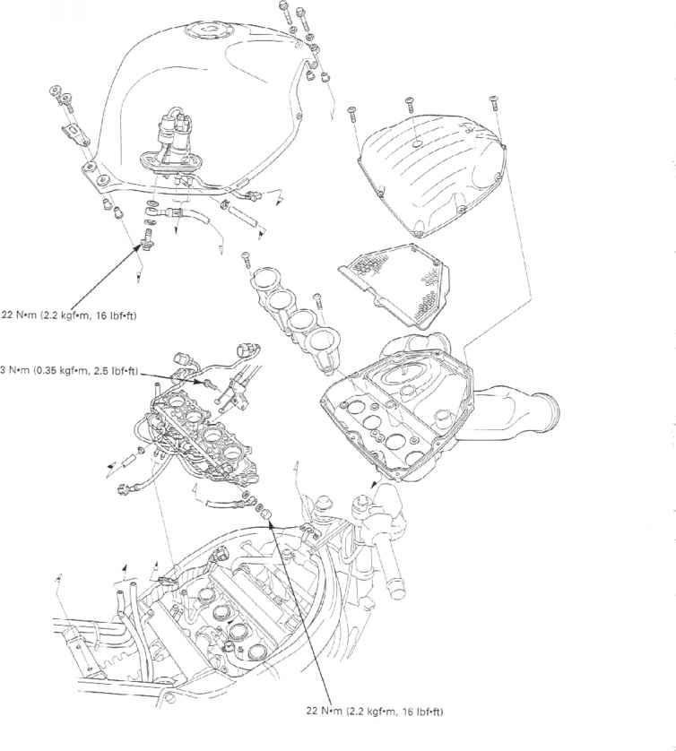 honda cbr 600 fuel line diagram
