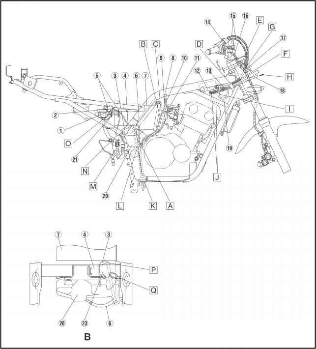 1984 Yamaha Ytm 225 Wiring Wiring Diagram