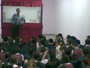 Borusan ilköğretim okulunda karagöz semineri