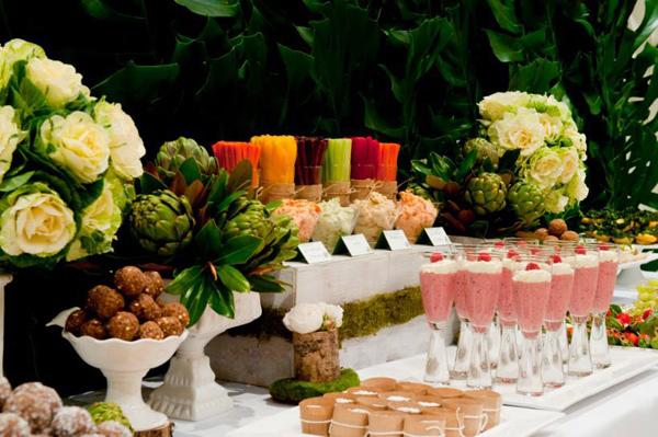 Kara39s Party Ideas Organic Buffet Veggie Bar Planning