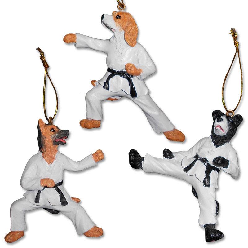 Karate Dog Ornaments - Martial Arts Dog Ornament - Taekwondo Dog