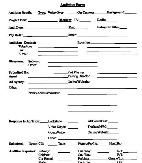 Store - Karen Gerstman - Female Voice-Over Artist - audition form