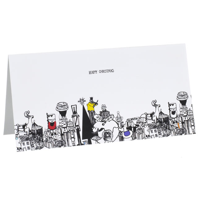 Festive Cards  Karen Grout - christmas cards black and white