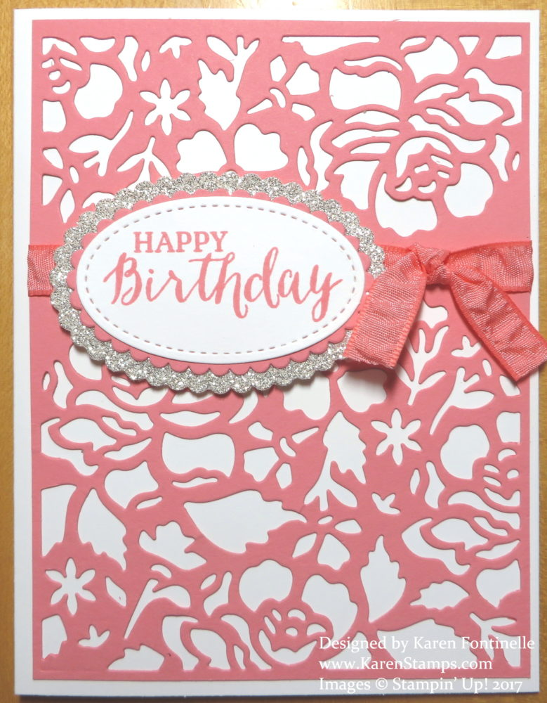 Make an Easy Elegant Birthday Card With the Detailed Floral Thinlits
