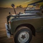 360 video rig mounted on a Land Rover Series II
