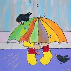 in my tent in the rain, Karin Konoval
